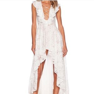 The Jetset diaries lace dress with ruffles